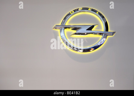 63th International Motor Show ( IAA ): The new Logo of the car manufacturer Opel - Stock Photo