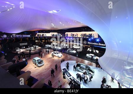 63th International Motor Show ( IAA ): Presentation of the car manufacturer Mercedes-Benz - Stock Photo