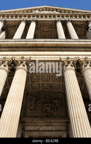 Columns on the west side of St. Paul's Cathedral in London, England, United Kingdom, Europe - Stock Photo