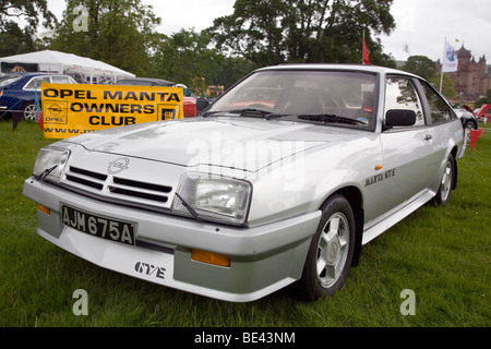 Opel Manta GT/E at Scottish Borders Historic Motoring Extravaganza 2009 - Stock Photo
