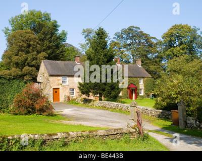 Typical Derbyshire Peak District Cottage Stock Photo