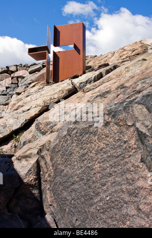 The Temppeliaukio Church, carved in a solid rock, Helsinki, Finland, Europe - Stock Photo