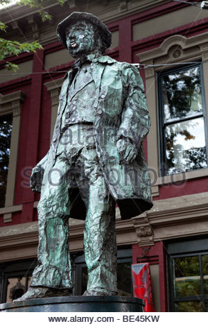Gassy Jack Statue in Gastown, Vancouver, Canada - Stock Photo