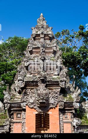 Temple of the Dead, Sacred Monkey Forest Sanctuary, Ubud, Bali, Indonesia - Stock Photo