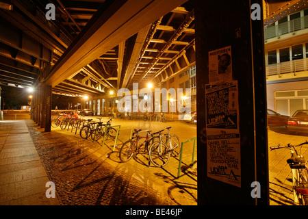 Hackescher Markt, below the S-Bahn tracks, Berlin Mitte, Germany, Europe - Stock Photo