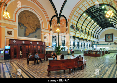 Serice hall in the main post office, Ho Chi Minh City, Saigon, Vietnam, Southeast Asia - Stock Photo