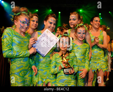 Gymnastics Youth National Finals review shows, awards ceremony, Internationales Deutsches Turnfest International - Stock Photo