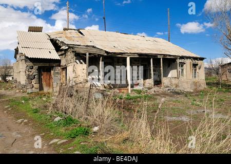 Old farmhouse in a poor mountain village near Sisian, Armenia, Asia