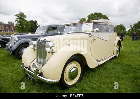 1948 MG YT at Scottish Borders Historic Motoring Extravaganza 2009 - Stock Photo