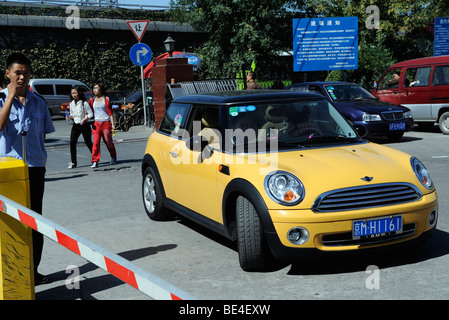 A Mini Cooper in Beijing, China. 21-Sep-2009 - Stock Photo