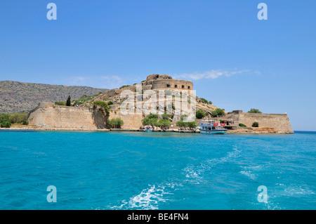 Former leper colony on the island of Spinalonga, Kalidon, Eastern Crete, Crete, Greece, Europe - Stock Photo