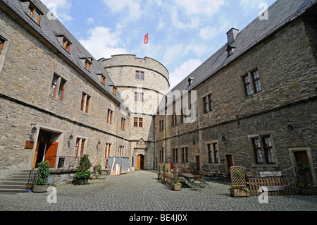 North Tower, Wewelsburg, triangular castle, former Nazi cult and terror center of the SS, today historical museum, - Stock Photo