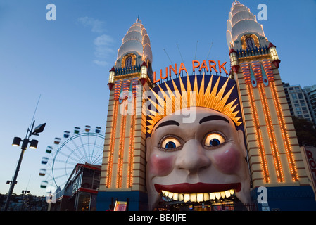 Sydney's historic Luna Park at Milson's Point. North Shore, Sydney, New South Wales, AUSTRALIA - Stock Photo