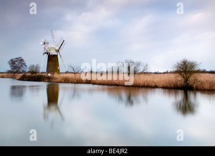 Turf Fen windmill, Norfolk, UK - Stock Photo