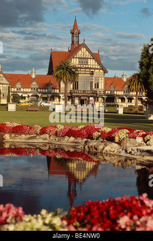New Zealand - North Island - Bay of Plenty - Rotorua - Museum of Art & History - Government gardens - Stock Photo