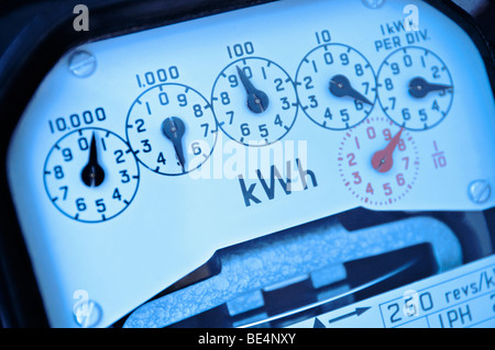 Electricity Meter, Close Up. - Stock Photo