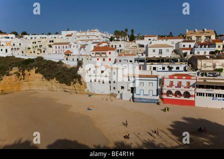 Fishing village, Carvoeiro, Algarve, Portugal, Europe - Stock Photo