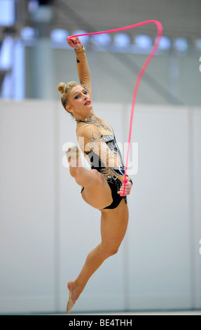 Annika Rejek, Germany, German RSG Rhythmic Gymnastics Championships, Frankfurt am Main, Hesse, Germany, Europe - Stock Photo
