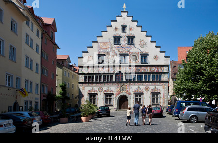 The old town hall in Lindau am Bodensee, Lake Constance, Bavaria, Germany, Europe - Stock Photo
