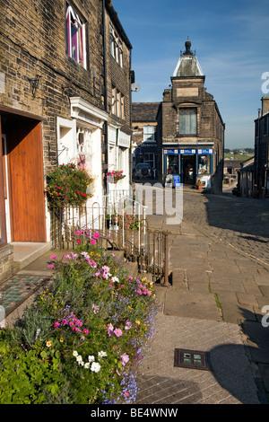 UK, England, Yorkshire, Haworth, Main Street, Tourist Information Centre - Stock Photo