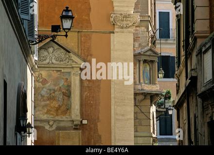 Holy painting, fresco, church of Santa Maria sopra Minerva, Rome, Lazio, Italy, Europe - Stock Photo