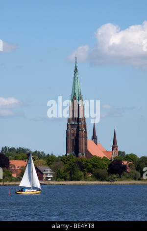 St Petri Cathedral in Schleswig, on the Schlei inlet, Schleswig-Holstein, Germany, Europe - Stock Photo