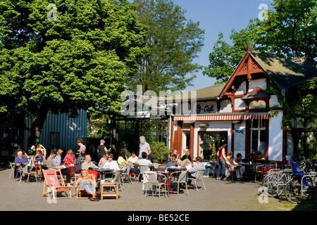 Cafe in Friedenau S-Bahn railway station, Berlin, Germany, Europe - Stock Photo