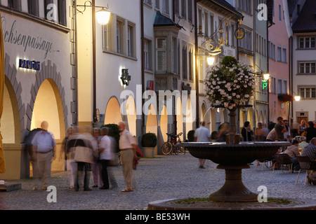 Marktgasse street, market square, Feldkirch, Vorarlberg, Austria, Europe - Stock Photo
