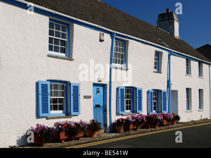 old fishing cottages in st.mawes cornwall,uk now used as second homes and holiday lets - Stock Photo