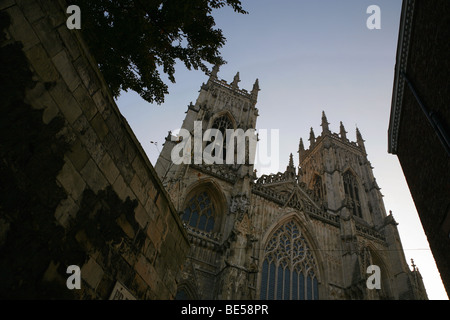 Early morning view of the West face of York Minster, North Yorkshire, England. - Stock Photo