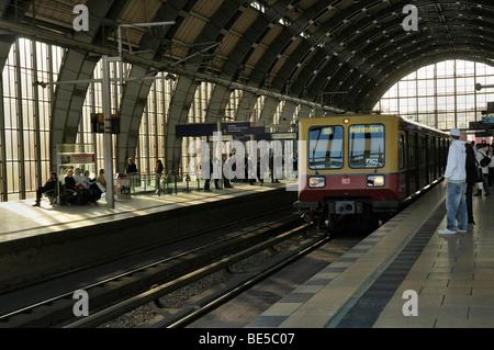 Tram station Alexanderplatz, Berlin, Germany, Europe - Stock Photo