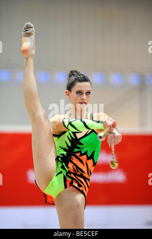 Mira Bimperling, Germany, German RSG Rhythmic Gymnastics Championships, Frankfurt am Main, Hesse, Germany, Europe - Stock Photo