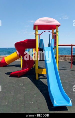 Playground at the port of Kyrenia, also known as Girne, Northern Cyprus, Cyprus, Europe - Stock Photo