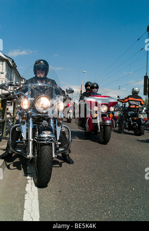 Harley Davidson event, Ruedesheim, Hesse, Germany, Europe - Stock Photo