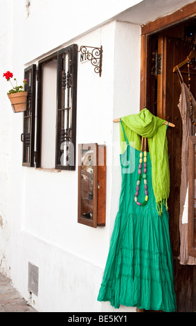 Goods in a small boutique in the Andalusian village of Vejer de la Frontera, Andalusia, Spain, Europe
