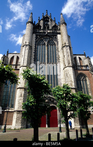 Hooglandse Chuch, a gothic church in the old city center, Leiden, province of South Holland, Zuid-Holland, Netherlands, - Stock Photo