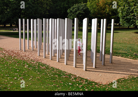 London Bombing Memorial, Hyde Park, London, England, UK - Stock Photo