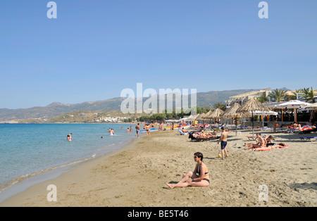 Beach in Sitia or Siteia, Eastern Crete, Crete, Greece, Europe - Stock Photo