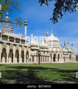 The Royal Pavilion, Brighton, East Sussex, England, UK, GB - Stock Photo