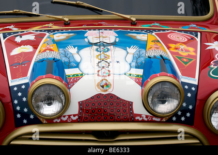 1966 Mini Cooper S belonging to George Harrison of the Beatles - Stock Photo