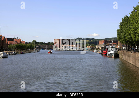 View of the River and buildings around Bristol City England UK - Stock Photo