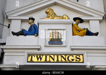 Twinings shop in The Strand, London, England, UK - Stock Photo