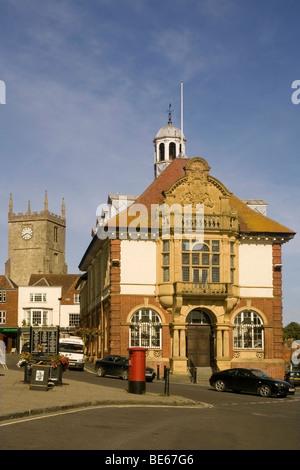 England Wiltshire Marlborough high street - Stock Photo