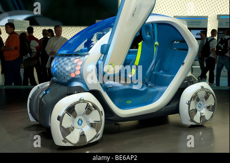 Renault Twizy ZE concept electric car at Frankfurt Motor Show 2009 - Stock Photo