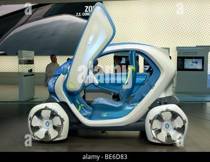 Renault Twizy ZE concept electric car at Frankfurt Motor Show 2009 - Stock Photo