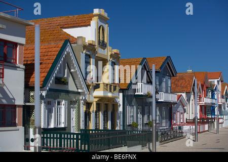 Costa Nova, Aveiro, Portugal, Europe - Stock Photo