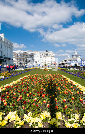 Seafront Gardens, Eastbourne, East Sussex, UK - Stock Photo