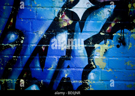 Graffiti of the Cowley Road,Oxford - Stock Photo