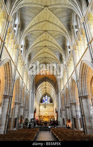SOUTHWARK CATHEDRAL, interior, cathedral and collegiate church of St. Savior and St. Mary Overie, London, England, United Kingd