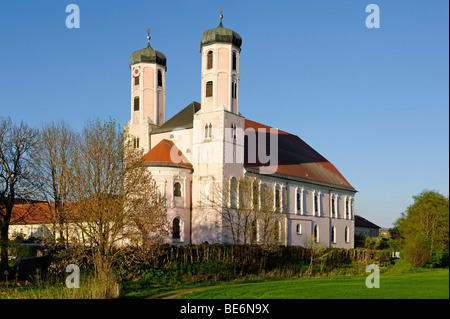 Former church of the Benedictine abbey Saint Peter, Oberaltaich, Lower Bavaria, Bavaria, Germany, Europe - Stock Photo